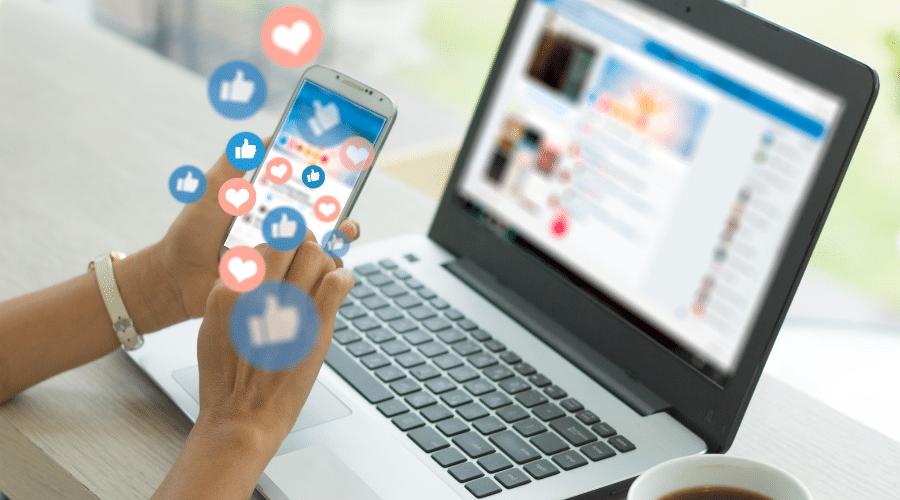 woman using smart phone,Social media | social media marketing